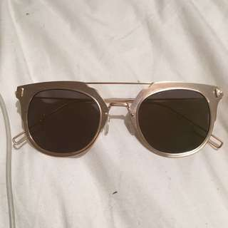 Matte Gold Sunglasses