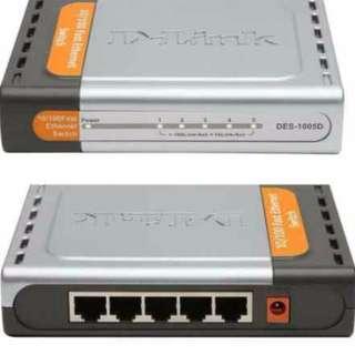 D-link 5 port fast ethernet desktop switch for sale