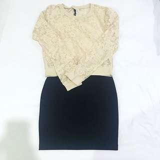 H&M Set Item - Sweater & Skirt
