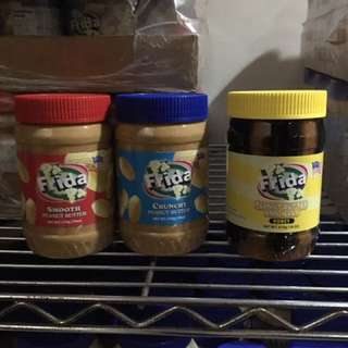 Peanut Butter, Fontana Juice, And  Pancake Syrup Available