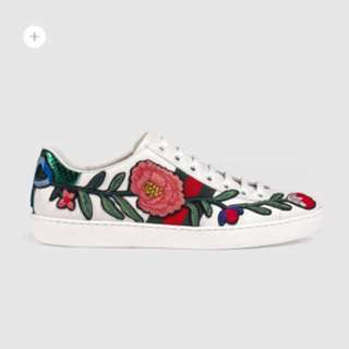 Gucci Sneaker 鞋 刺繡 花