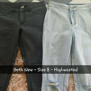Ladies Highwasted Jeans