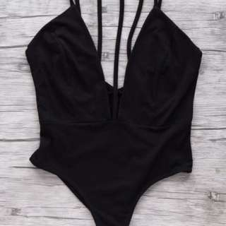 Strappy Cami Backless Plunge Bodysuit
