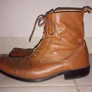 Sepatu Boot Kulit BOSSWAY Original