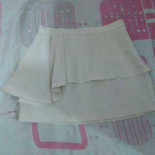 Forever 21 White Mini Skirt