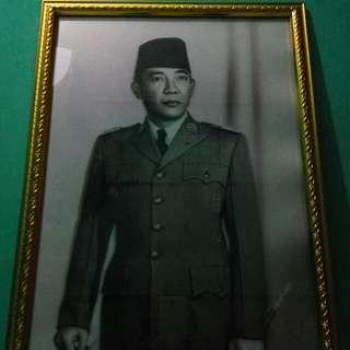 Lukisan / gambar Soekarno 3D