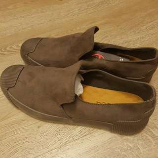 Suade Look Slip On Shoes