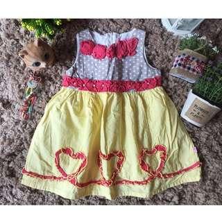 Dress Donita Size 1 Utk Anak 12-18 Mo