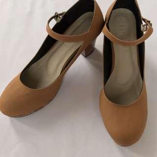 Wooden Brown High Heels