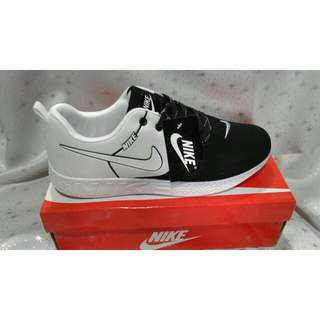 Nike White And Black Rubber Shoes