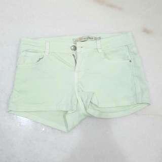 Zara Trf Premium Wash Short Shorts