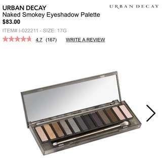 100% AUTHENTIC Urban Decay Naked Smokey Eyeshadow Palette RRP $83
