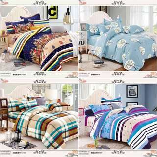 US COTTON bed sheet 4 in 1