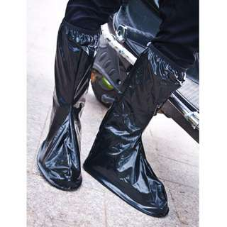Rain Shoe cover Boots style Long Barrel with reflector back