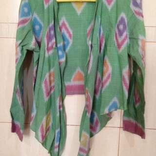 Blazer Batik Troso Hijau