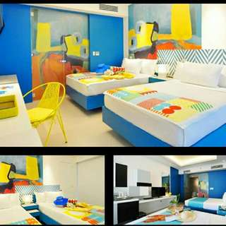 A Slice Of Miami In Boracay! Vibrant Deluxe Room for 4 with Breakfast & Discounts  Astoria Current ₱8,888 (from ₱11,000)