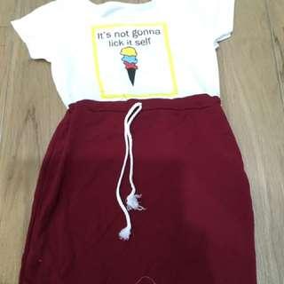 Cute Dress/short Sleeves/ Mini Dress/ Cotton Dress