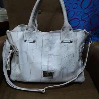 Pierre Cardin Two-way White Bag