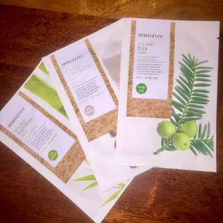 Innisfree ~ It's Real Sheet Masks [3 for RM10]