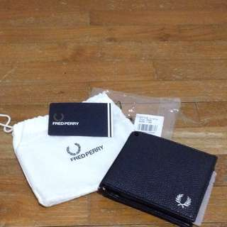 Fred Perry Dark Navy Blue Classic Wallet