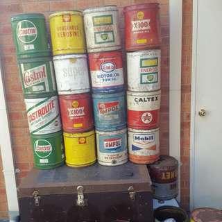 Vintage Oil Tins