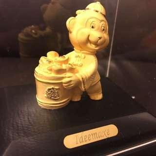 24K 金猴子生肖擺設,全新抽奬禮物