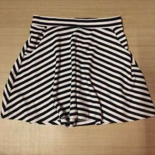 Striped Flared Skirt Cotton On