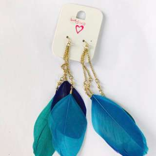 Blue Fur Earing