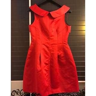 Zara 紅色全身裙