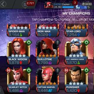 JUAL ACCOUNT Marvel Contest Of Champions