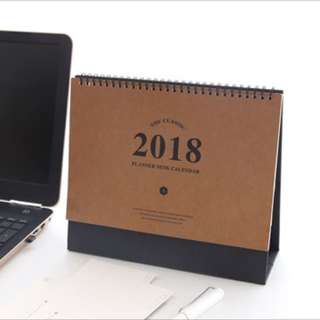 Mid-2017 to End-2018 Desk Calendars