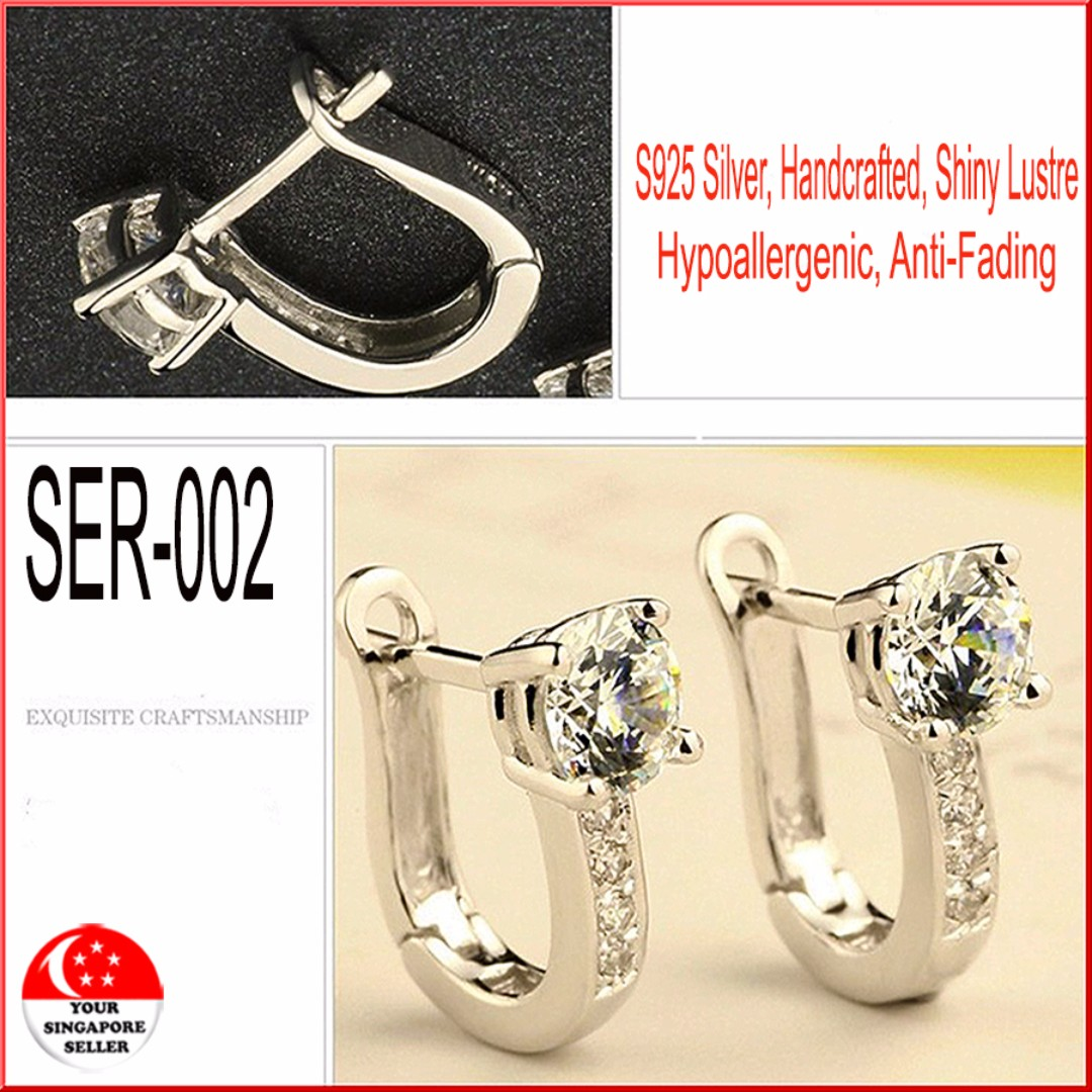 ❤925 Sterling Swarovski Earrings SER-002❤, Women's Fashion