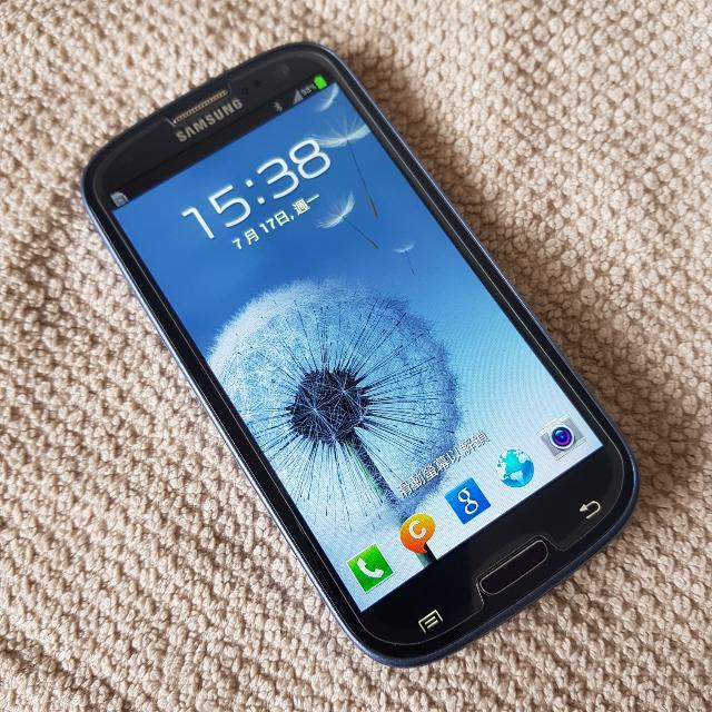 9成新 Samsung S3 藍色 智慧型手機 完整盒裝