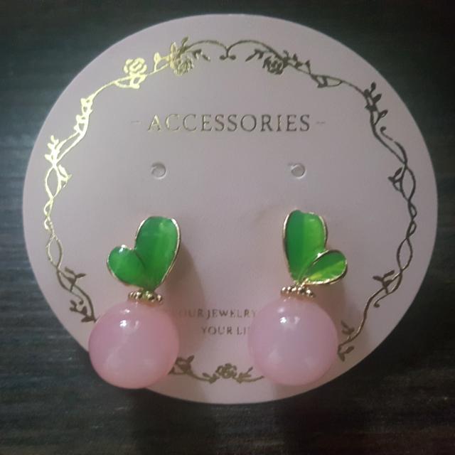 可愛果子造型耳環