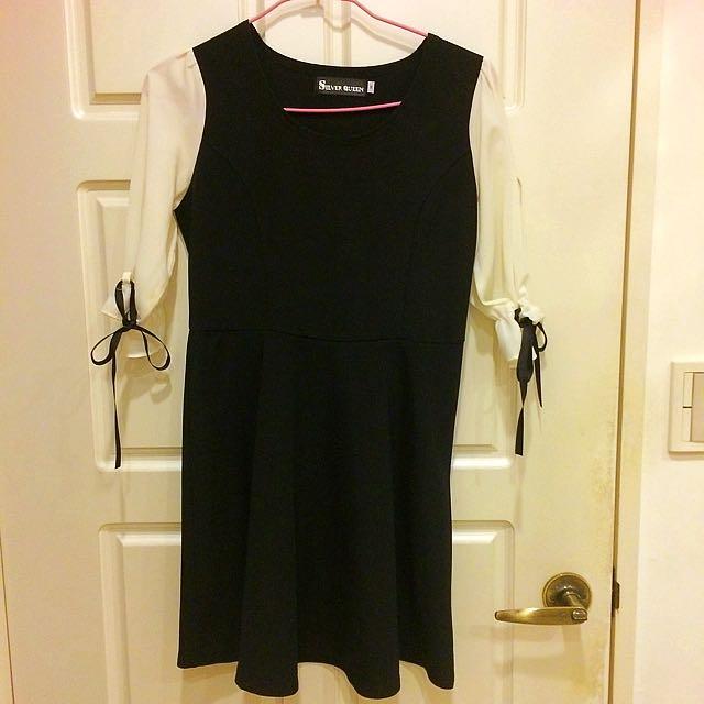 韓風甜美七分袖小洋裝