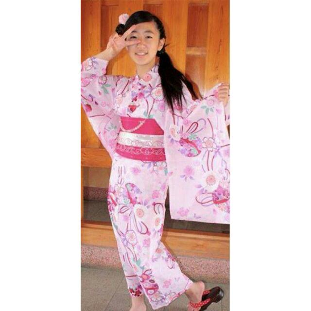 【代售】純棉櫻花手毯山茶花粉色日版浴衣