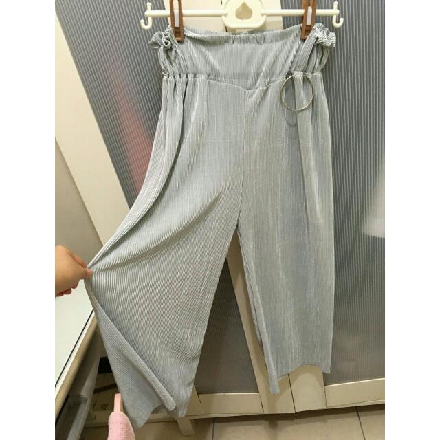 全新灰色寬褲