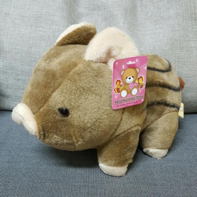 可愛山豬小玩偶娃娃