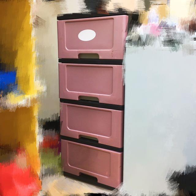 四層塑膠櫃 可拆解