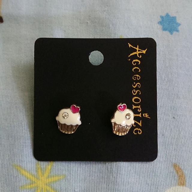 [全新] Accessorize 蛋糕耳環
