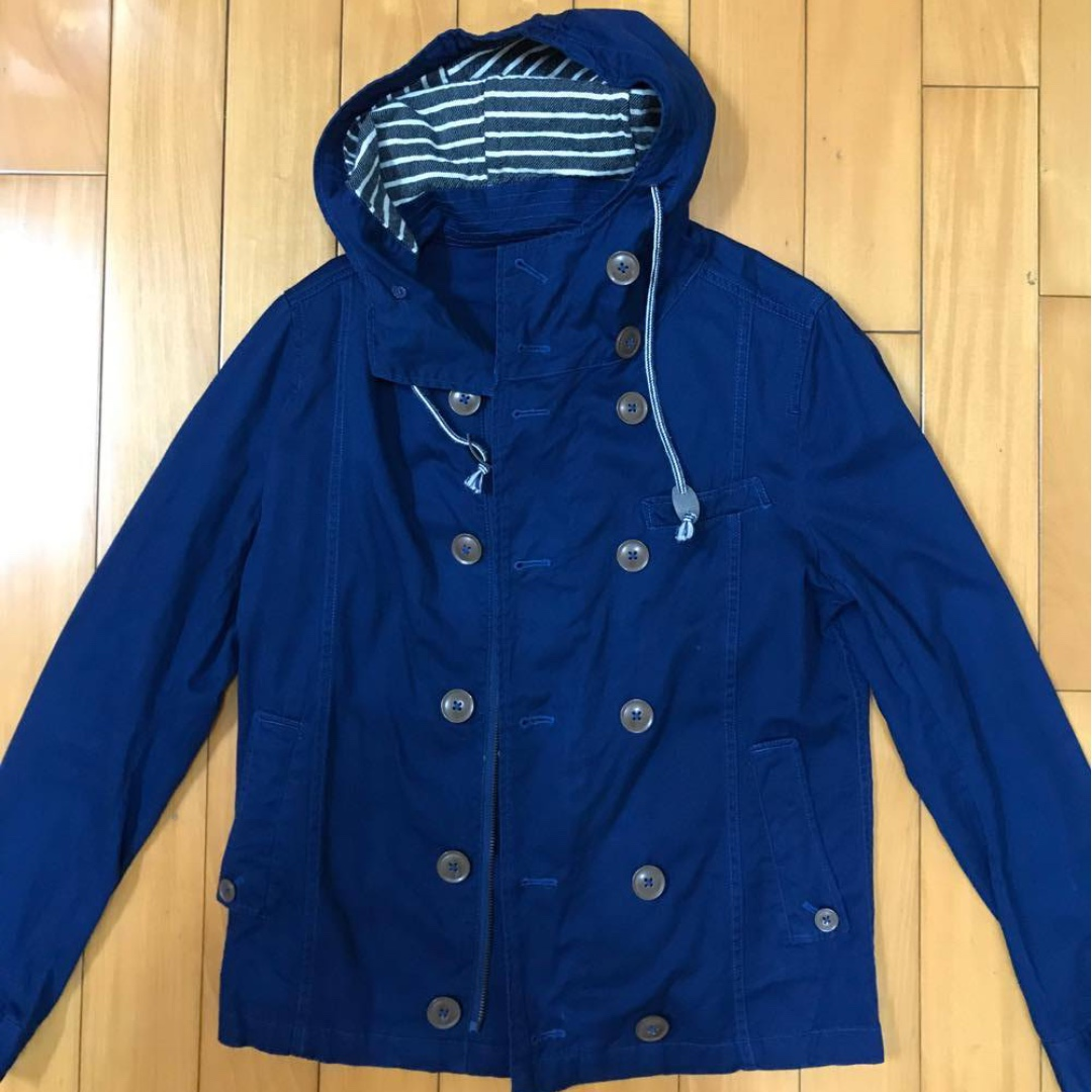 日本 J.FERRY 藍色條紋連帽外套