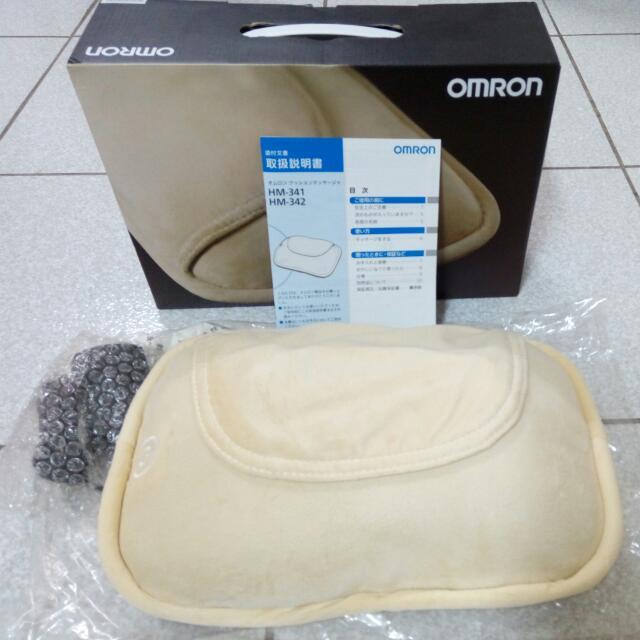 降價日本 OMRON 歐姆龍 HM-341 BG 加熱型 靠墊 肩頸 腰 按摩器 米色
