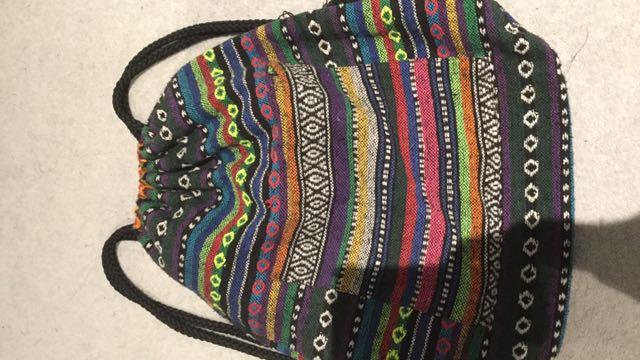 🎀 Patterned Drawstring Bag