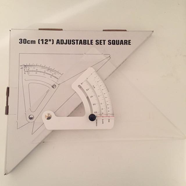 Acrylic 30cm Set Square