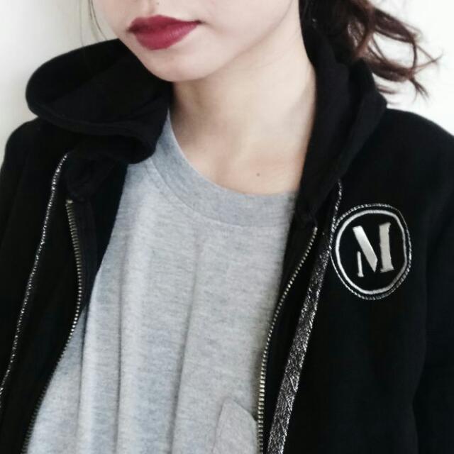Authentic Mango Black Hoodie Jacket