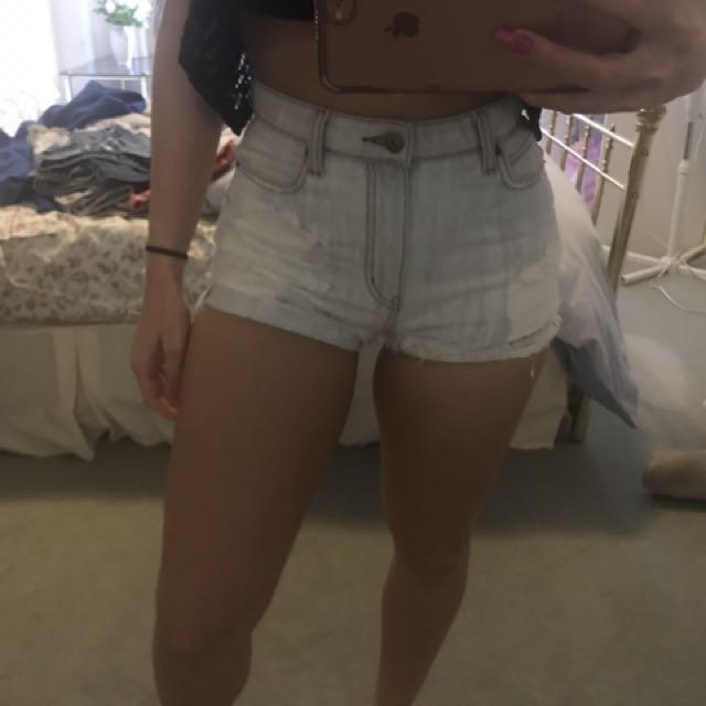 Bardot High Waisted Shorts - Size 8