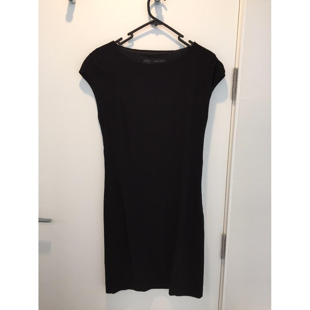 Black work-evening shift dress