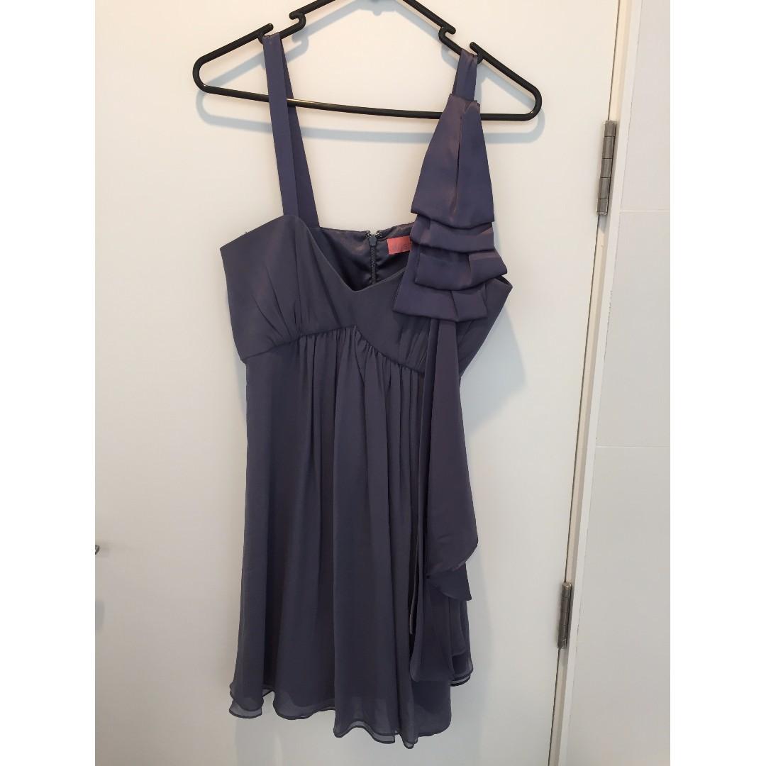 Blue babydoll prom/graduation dress