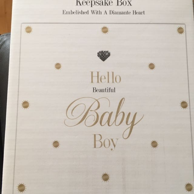 Brand new baby keepsafe box