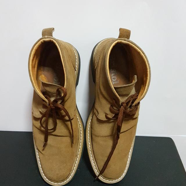 Bristol Shoes - Brown Suede Boots